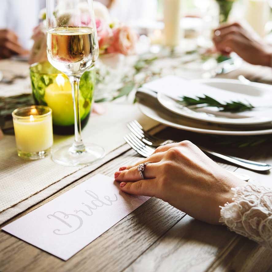 bride tag for weddings