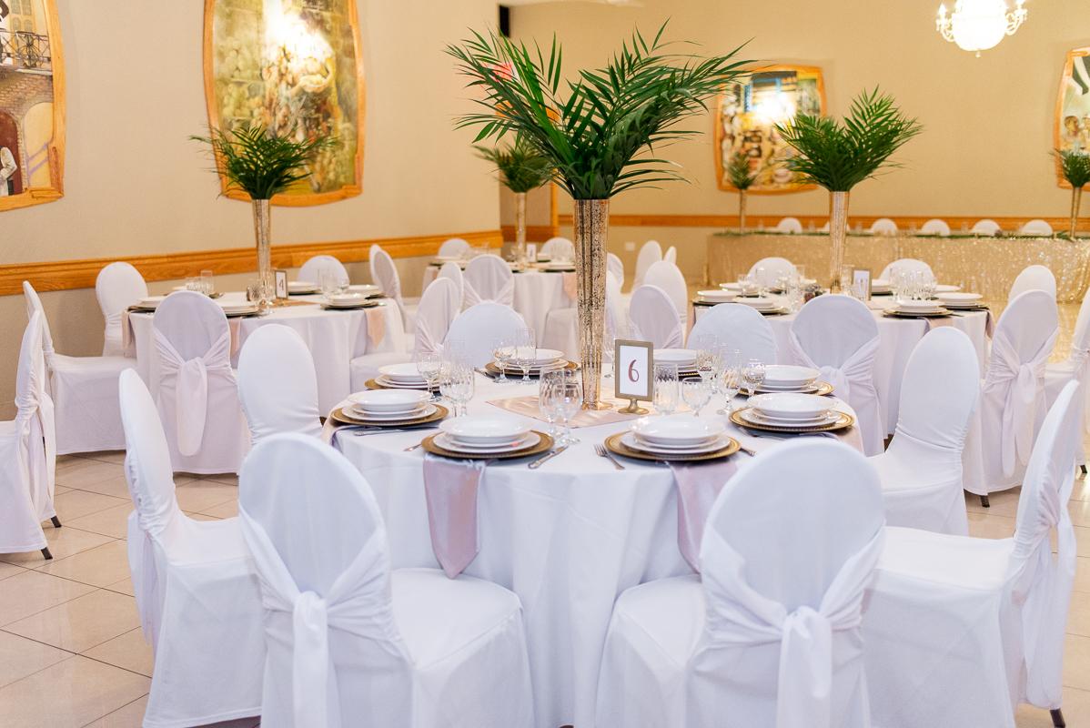lasila ballroom wedding setting at club belvedere